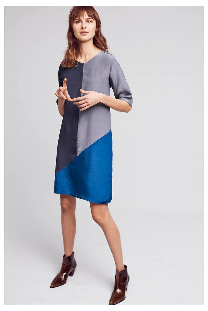 Olivia Colour Block Silk Dress