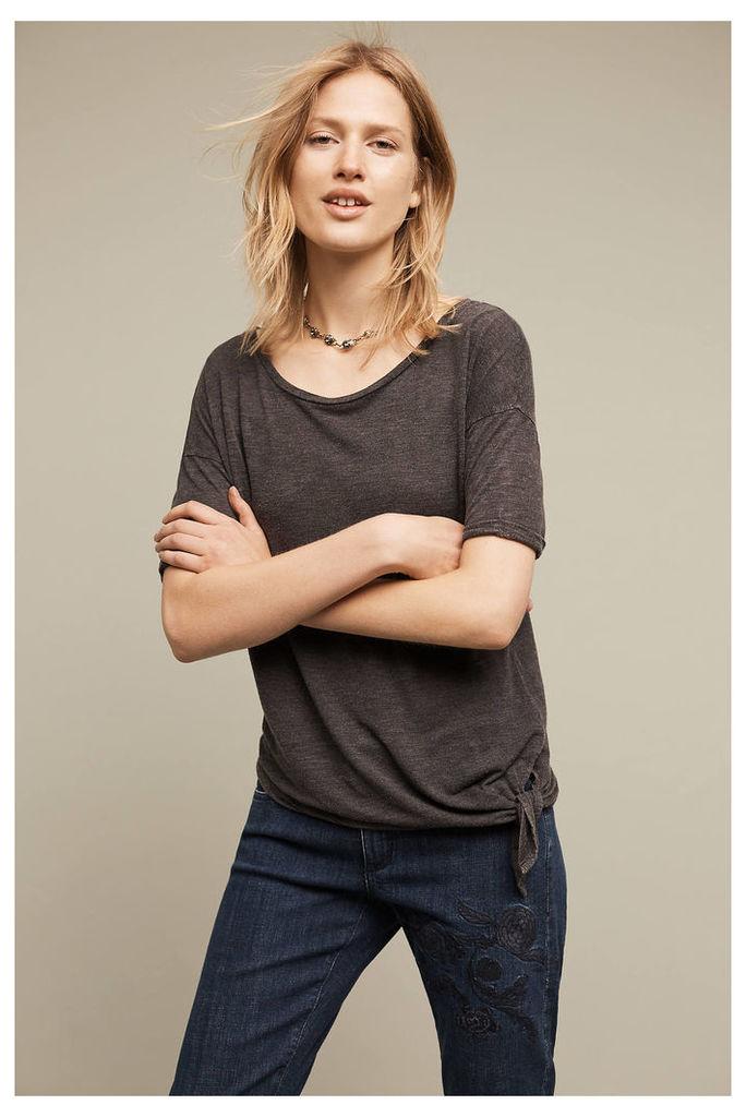 Side-Tie Weekend T-Shirt, Grey