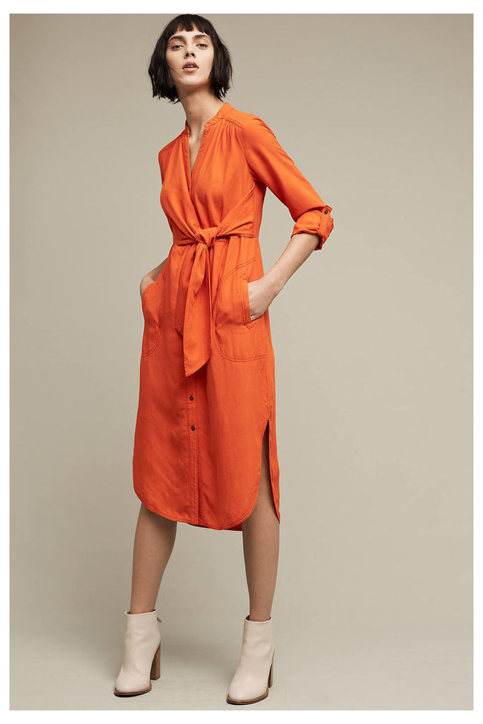 Araceli Shirt Dress, Orange
