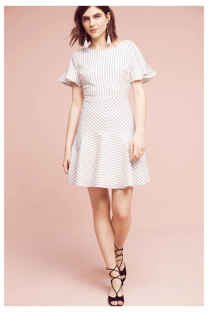 Leandra Striped Dress, White