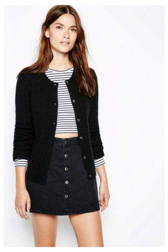 HOLYWELL CABLE CARDIGAN BLACK