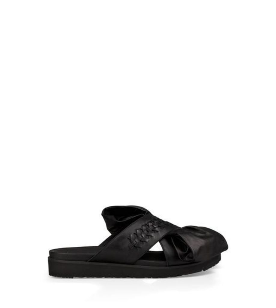 UGG The Raven Bow Womens Sandals Black 8