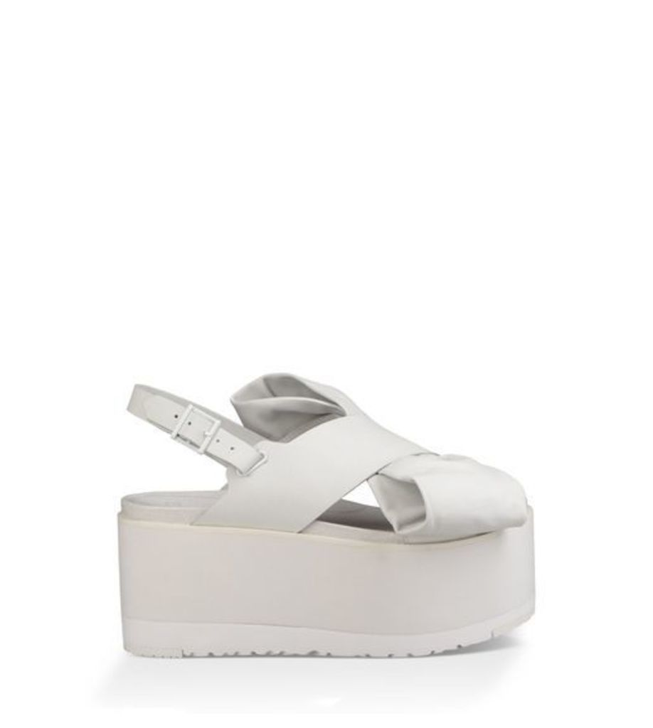 UGG The Moon Bow Womens Sandals White 8