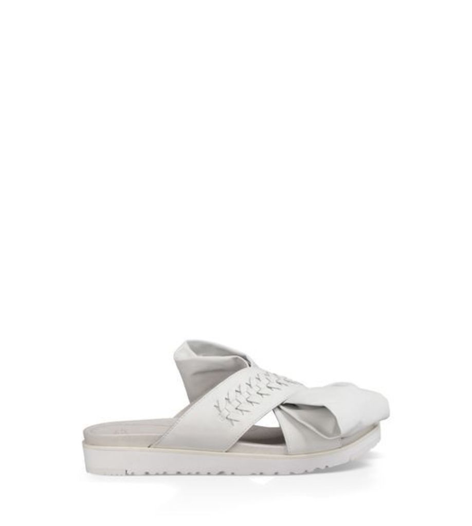 UGG The Raven Bow Womens Sandals White 6