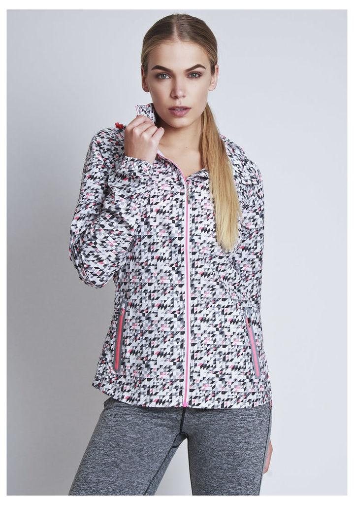 ELLESPORT Geo triangle printed woven jacket