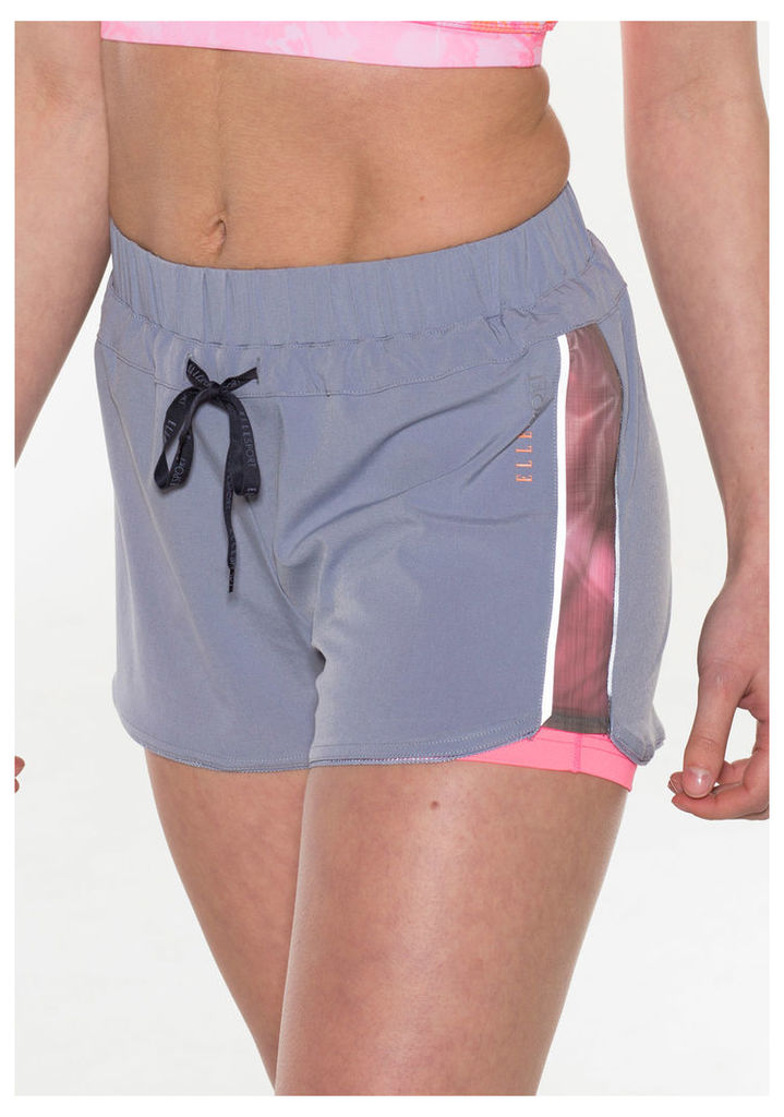 ELLESPORT Woven Double Layer Short with Soft Blurred Side Panels