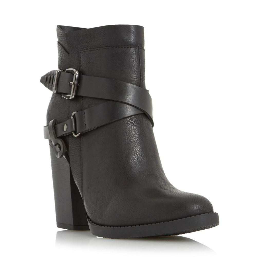 Posey Cross Strap And Buckle Trim Western Boot