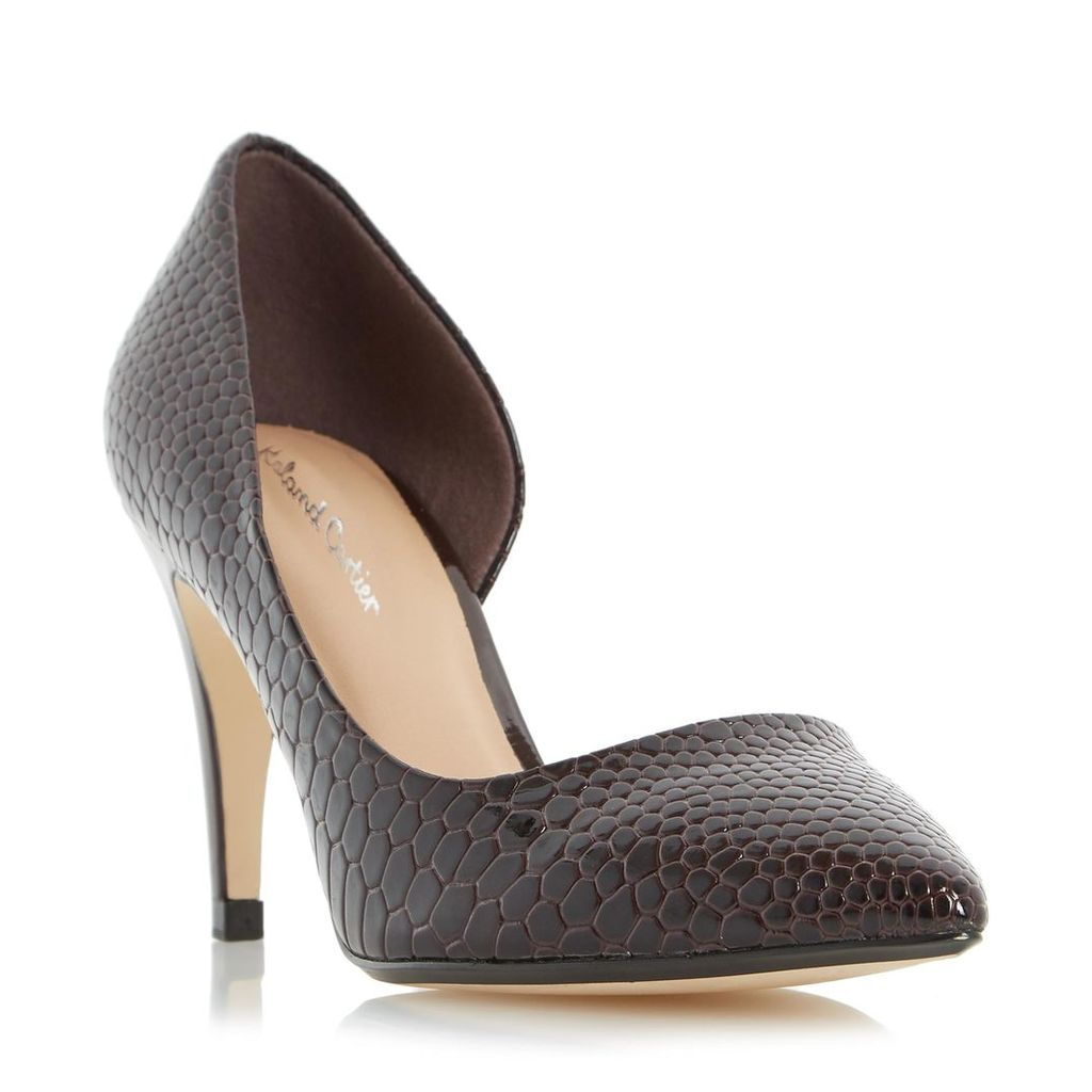 Dovey Pointed Toe Semi D'orsay Court Shoe