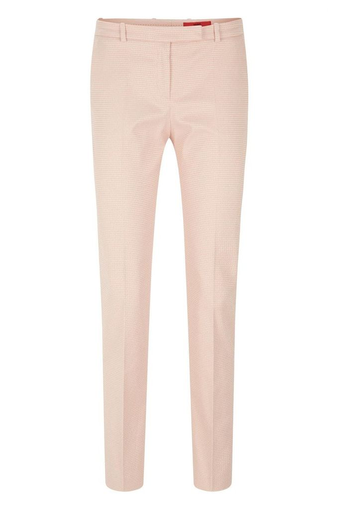 Finely patterned trousers in stretch cotton blend: `Harile-3`