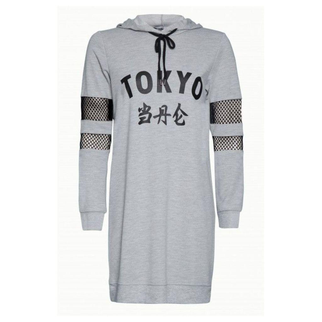 TOKYO AIRTEX HOODIE DRESS