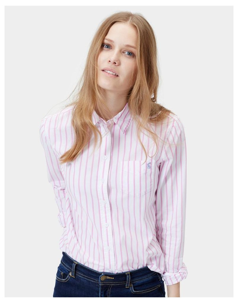 Pinky Stripe Lucie Classic Fit Shirt  Size 12 | Joules UK