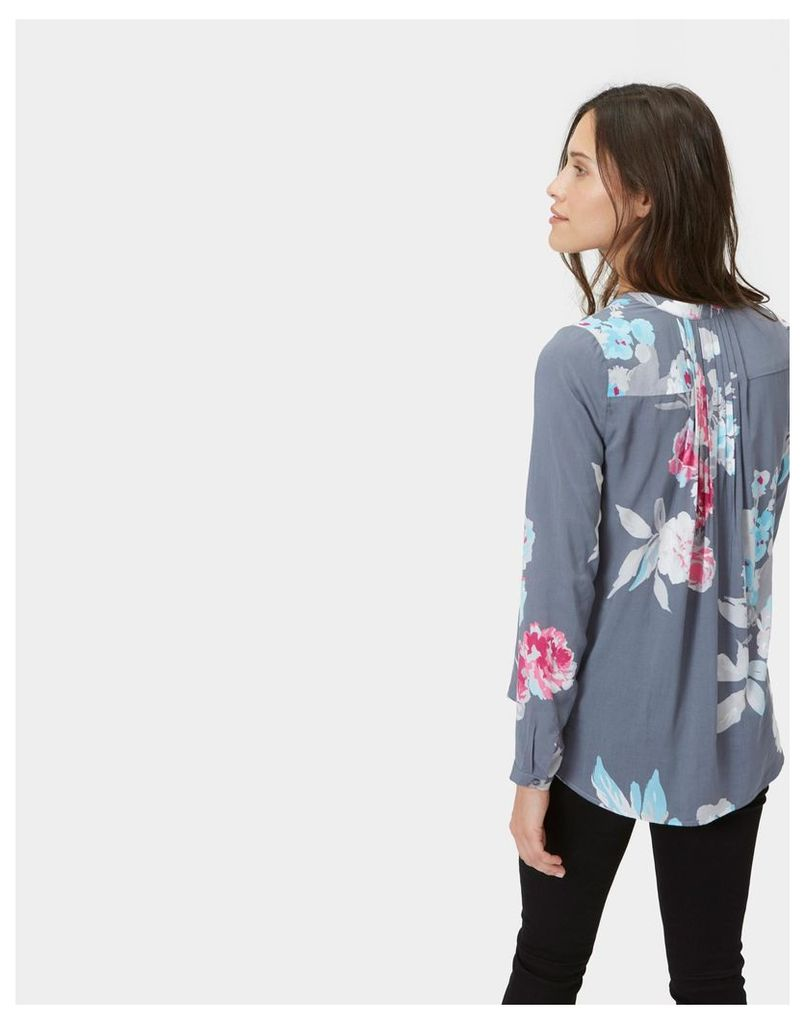 Grey Beau Bloom Rosamund Pop Over Blouse  Size 16 | Joules UK