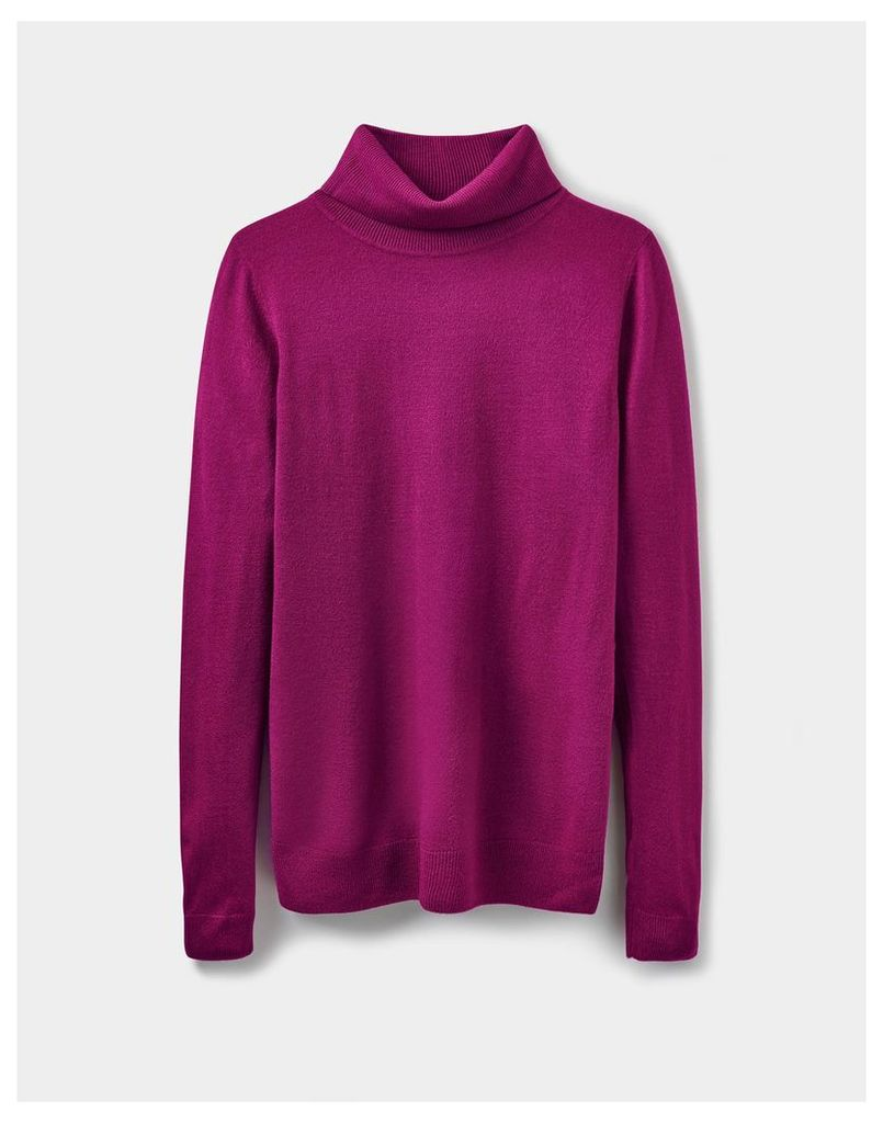 Berry Leila Roll Neck Jumper  Size 8 | Joules UK