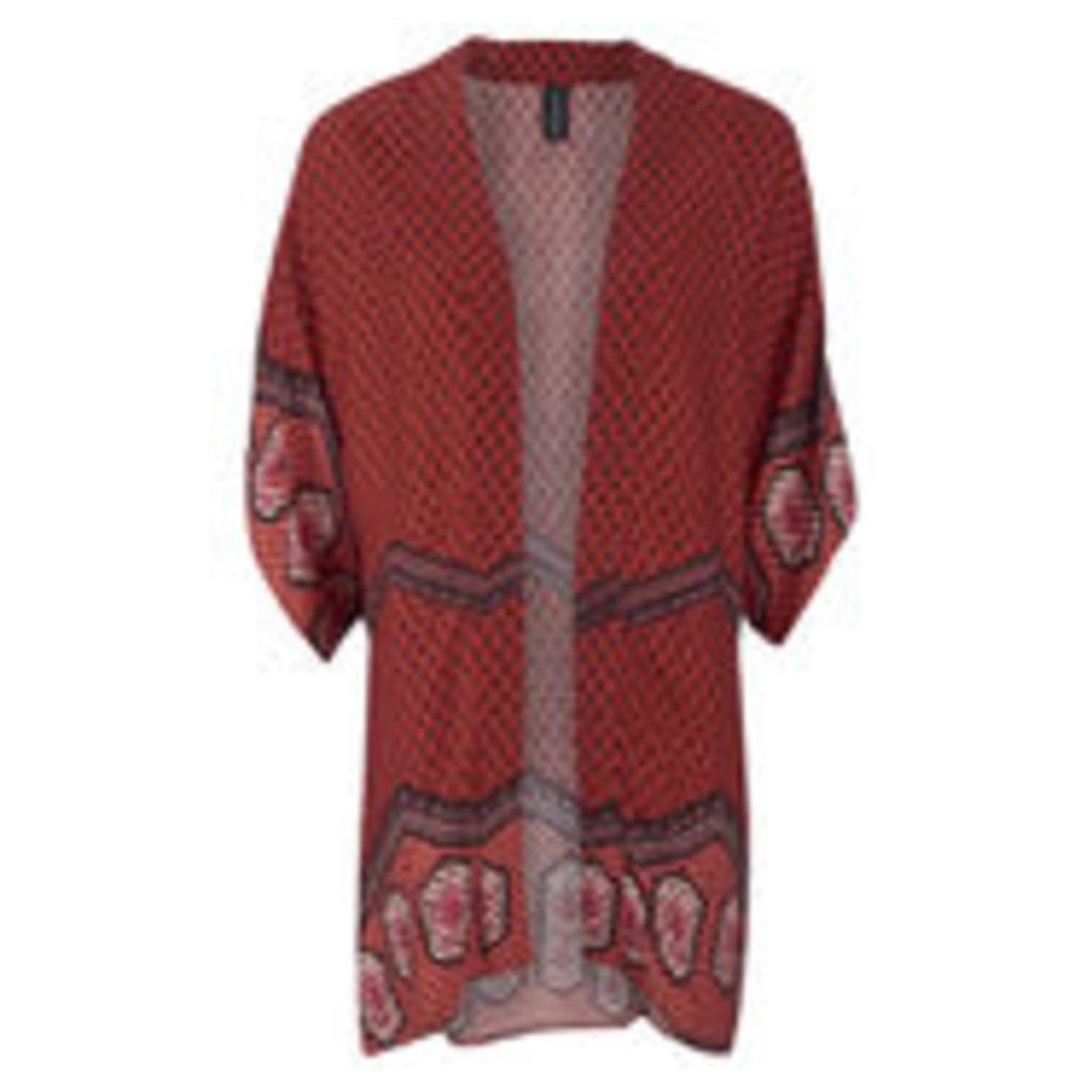 MINKPINK Women's Rosewater Open Armhole Kimono Cape - Multi - M/L