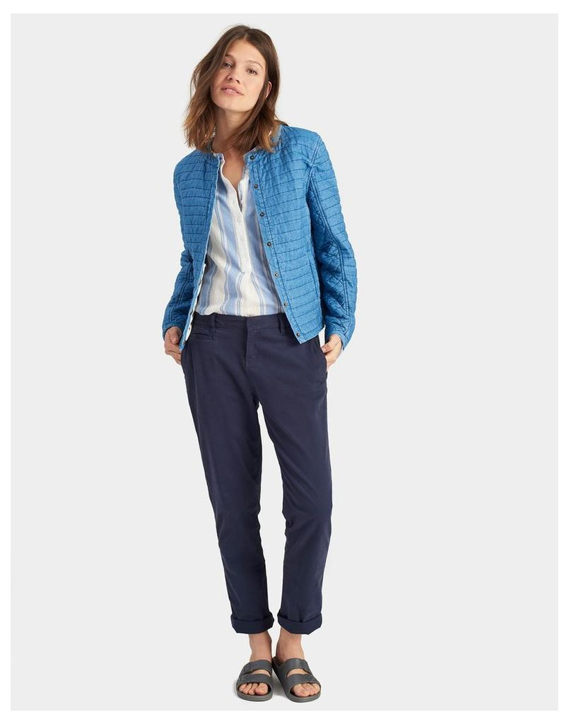 Chambray Viola Quilted Chambray Jacket  Size 14 | Joules UK