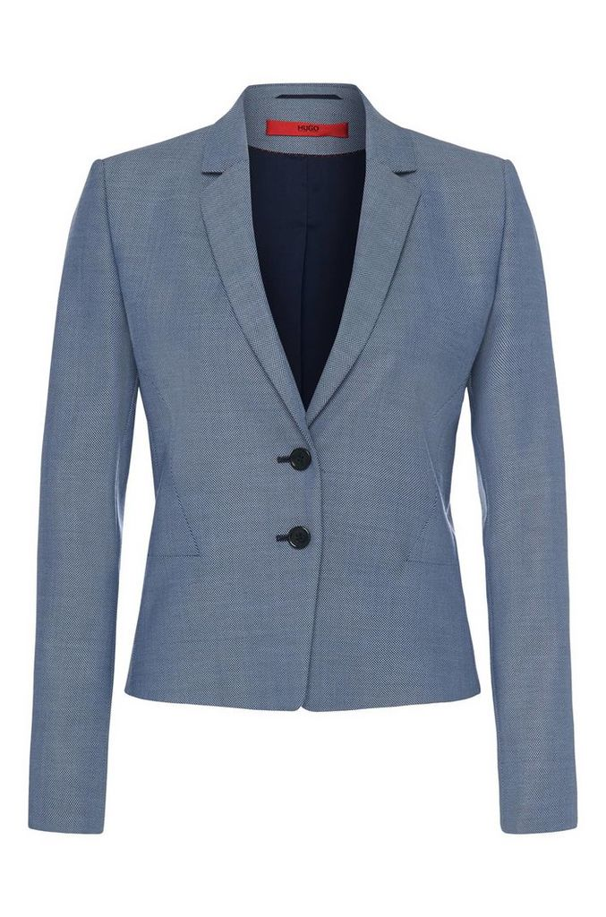 Finely patterned blazer in pure new wool: `Aikes`