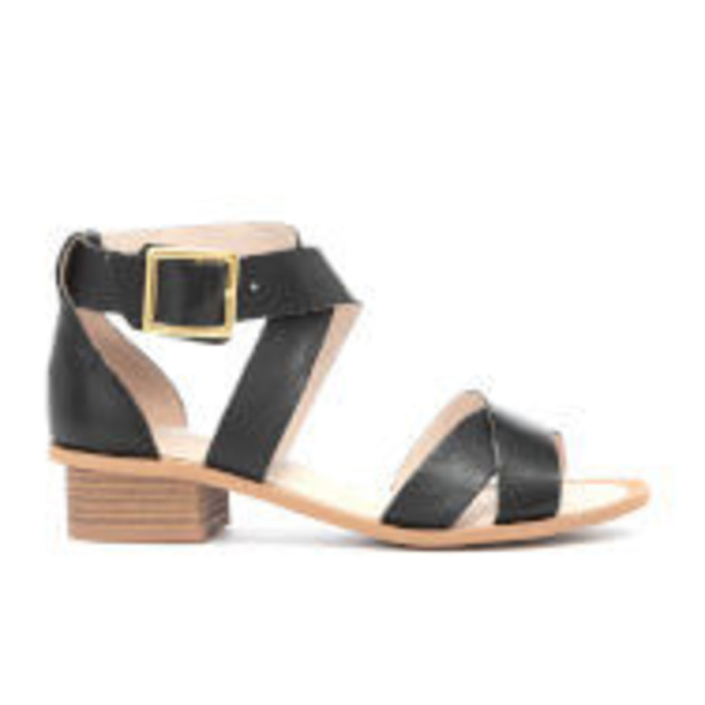 Clarks Women's Sandcastle Ray Leather Strappy Sandals - Black - UK 7