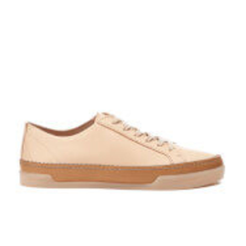 Clarks Women's Hidi Holly Leather Cupsole Trainers - Nude - UK 4