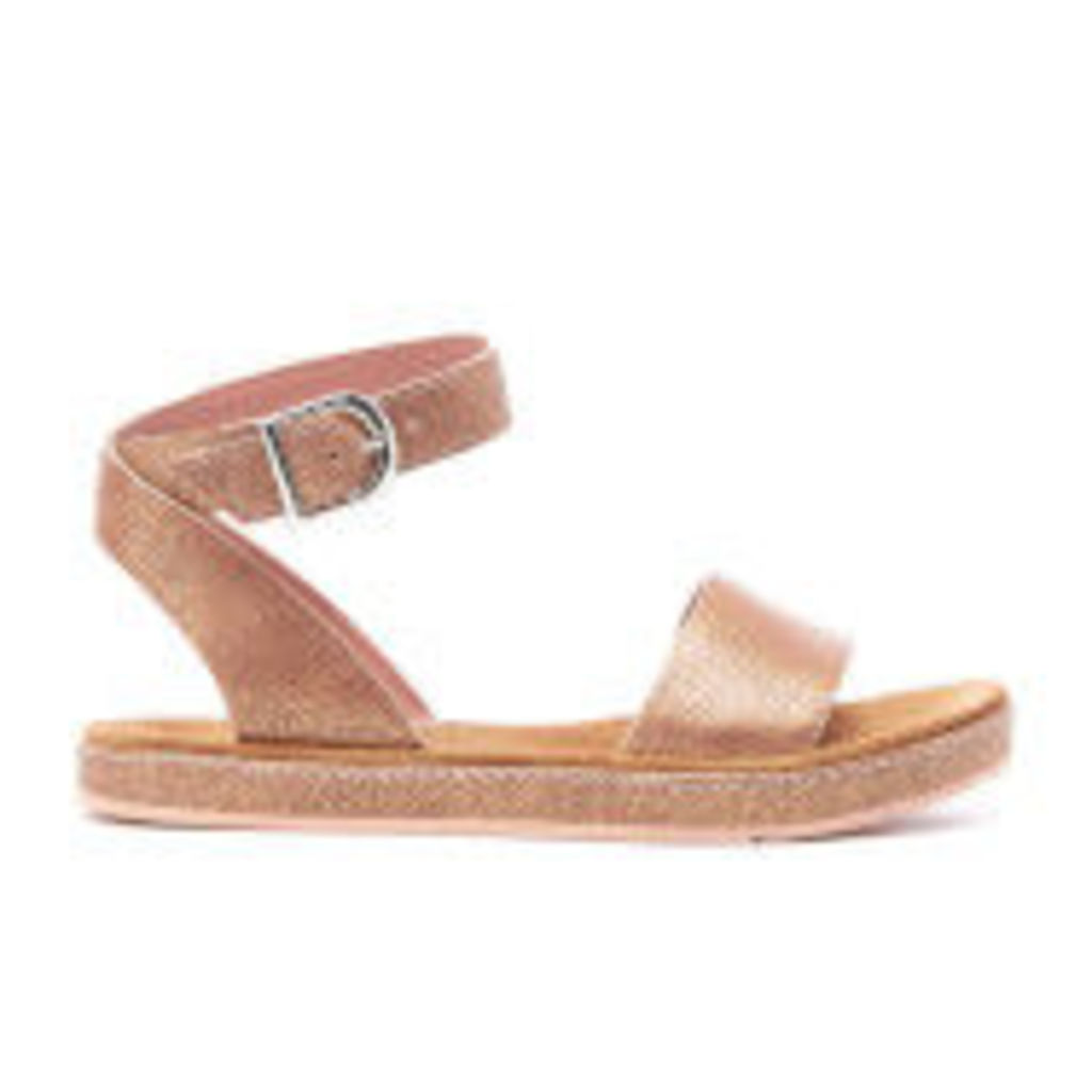 Clarks Women's Romantic Moon Leather Barely Sandals - Gold - UK 4