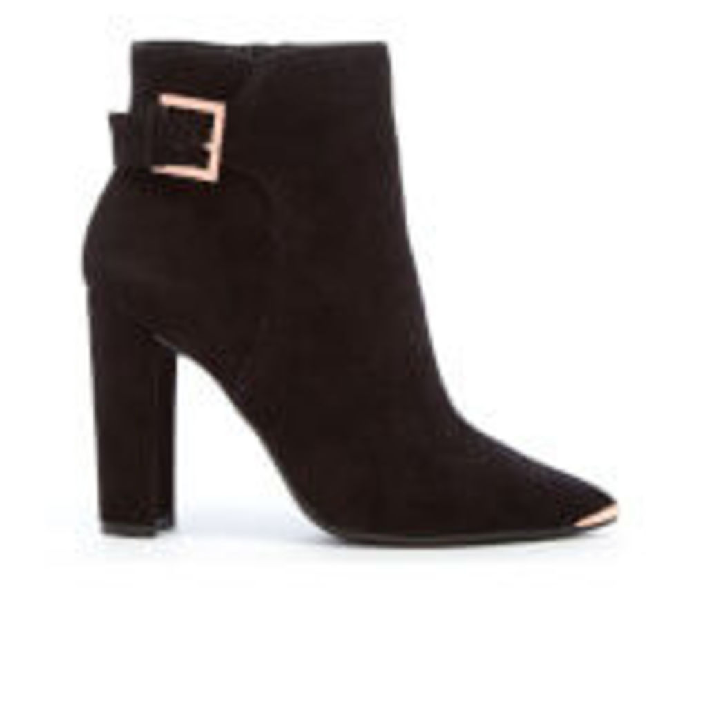 Ted Baker Women's Maryne Suede Heeled Ankle Boots - Black - UK 4