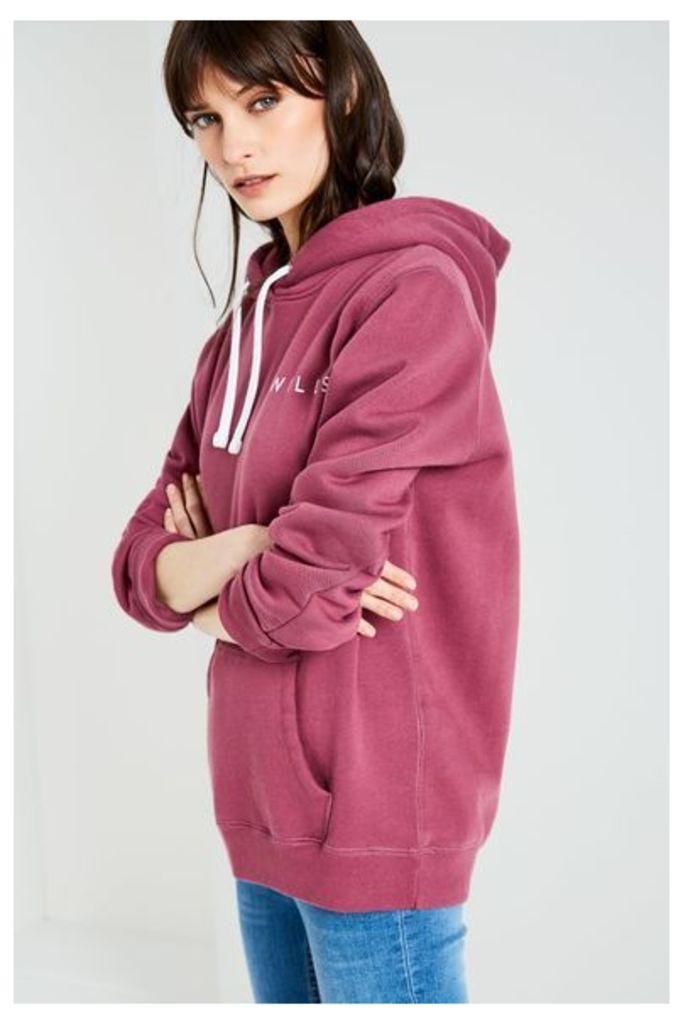 MOTHERBY RELAXED HOODIE BERRY