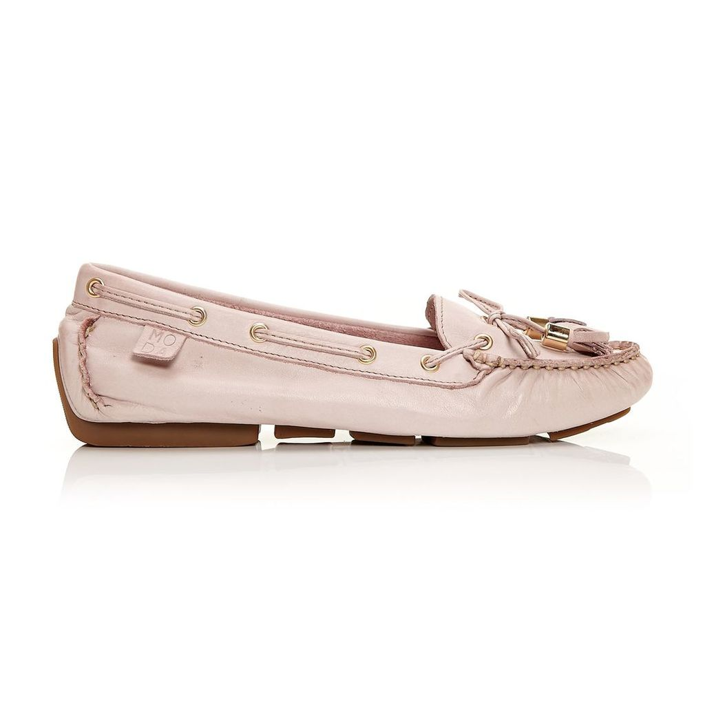 Moda in Pelle Alivia Light Pink Flat Casual Shoes