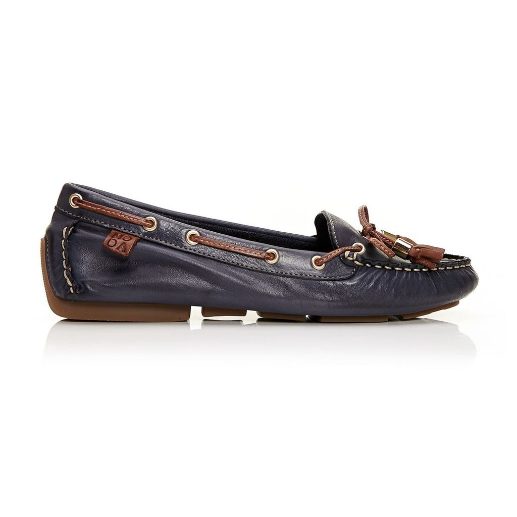 Moda in Pelle Alivia Navy Flat Casual Shoes