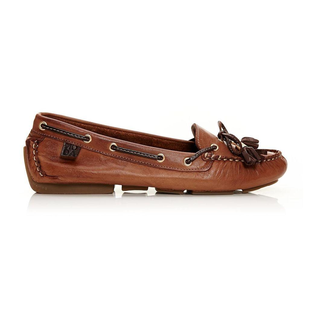 Moda in Pelle Alivia Tan Flat Casual Shoes