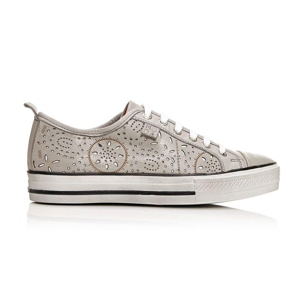 Moda in Pelle Fialas Grey Low Leisure Shoes