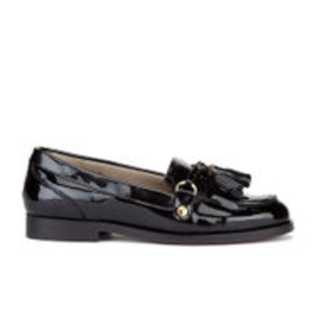 H Shoes by Hudson Women's Britta Patent Tassle Loafers - Black - UK 4