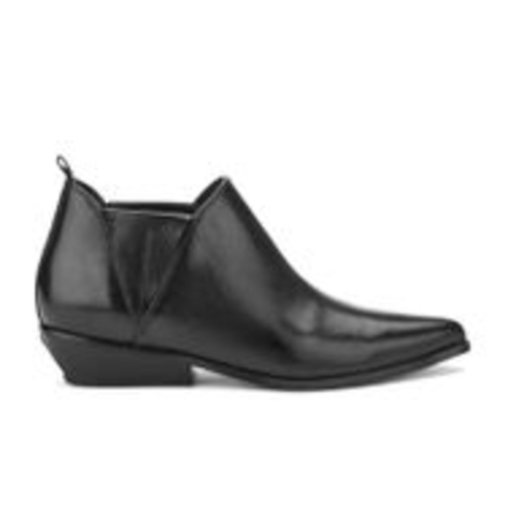 Kendall + Kylie Women's Violet Leather Heeled Ankle Boots - Black - UK 6/US 9