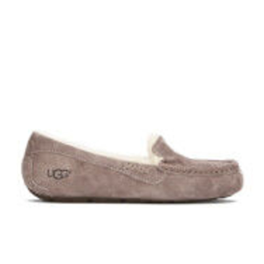UGG Women's Ansley Moccasin Suede Slippers - Stormy Grey - UK 4.5