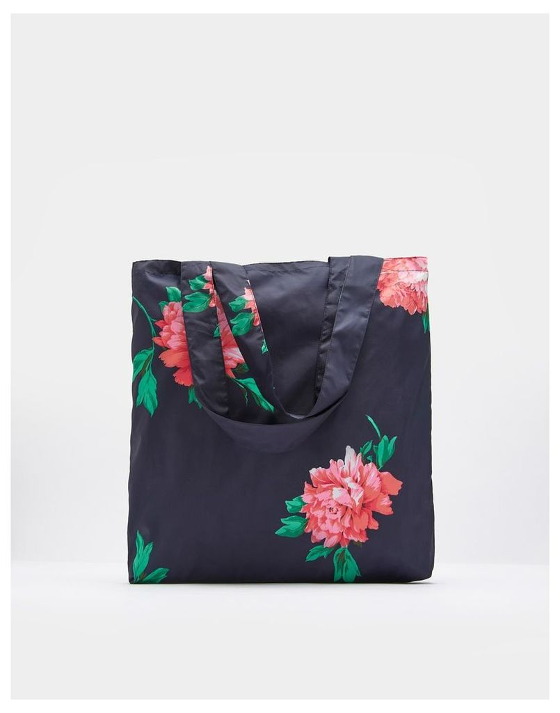 French Navy Peony 124257 Reusable Bag  Size One | Joules UK