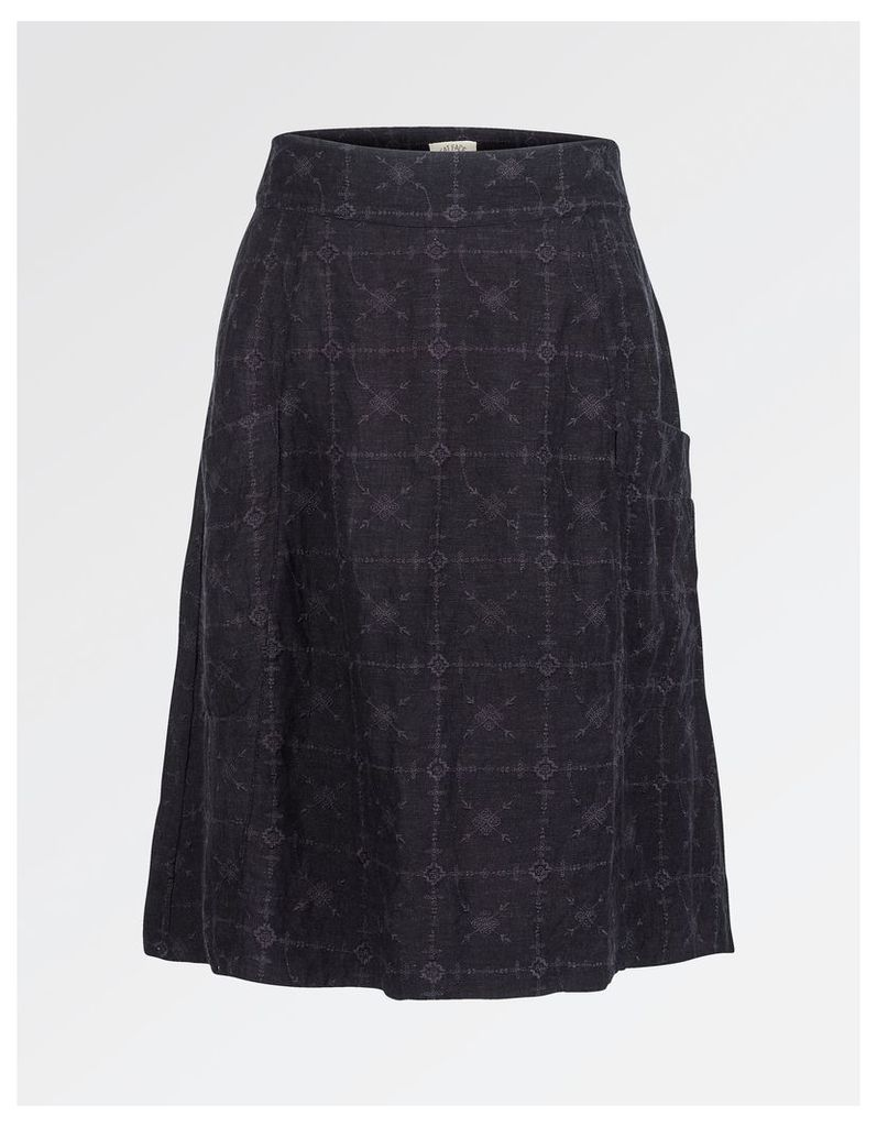 Fat Face Casey Embroidered A-Line Skirt
