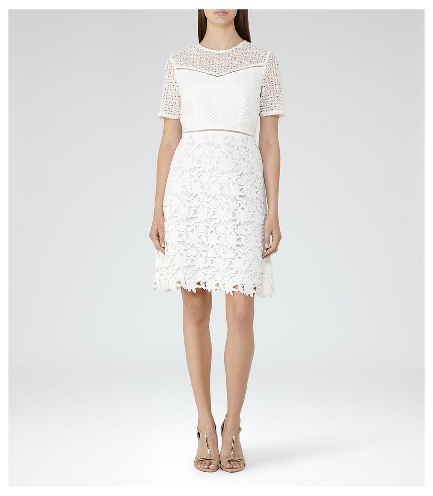 REISS Heather - Womens Lace Dress in White