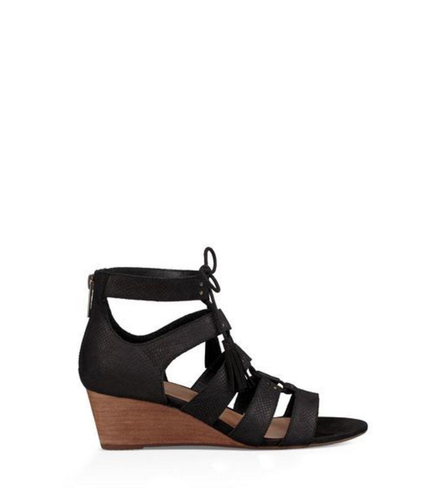 UGG Yasmin Snake Womens Sandals Black 9