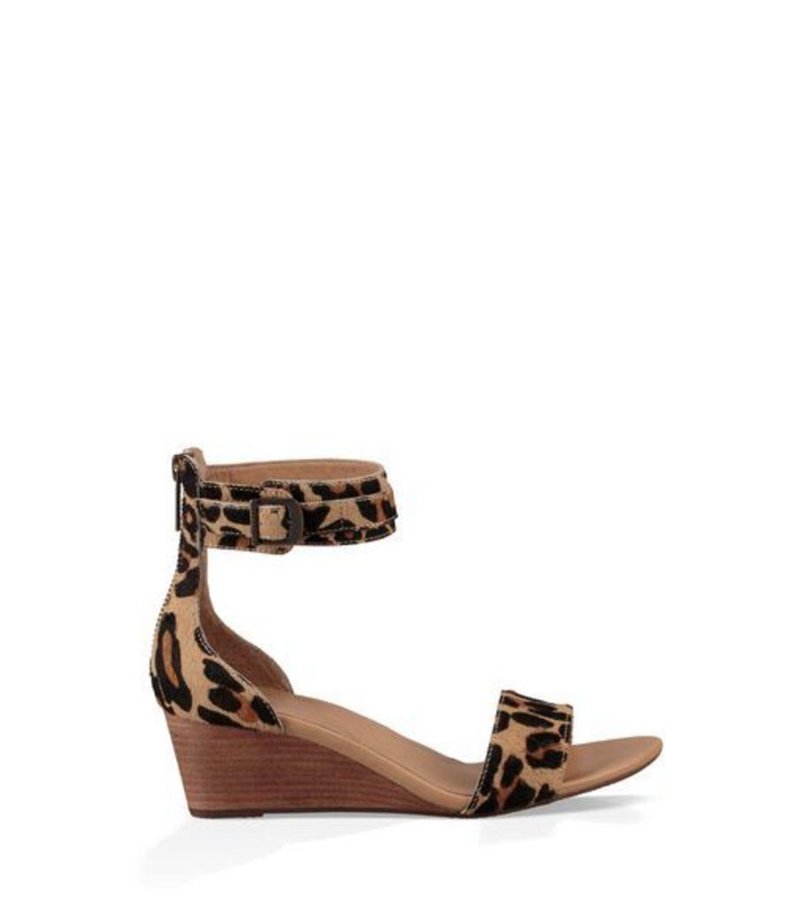 UGG Char Leopard Womens Sandals Chestnut Leopard 10