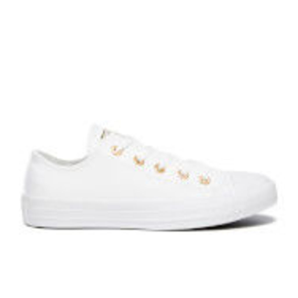 Converse Women's Chuck Taylor All Star Ox Trainers - White/Gold - UK 4