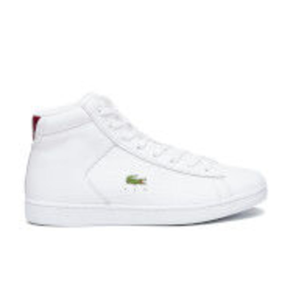 Lacoste Women's Carnaby Evo Mid G316 2 Hi-Top Trainers - White/Red - UK 7