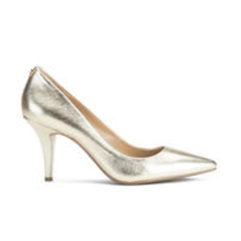 MICHAEL MICHAEL KORS Women's MK-Flex Leather Court Shoes - Pale Gold - US 6/UK 3