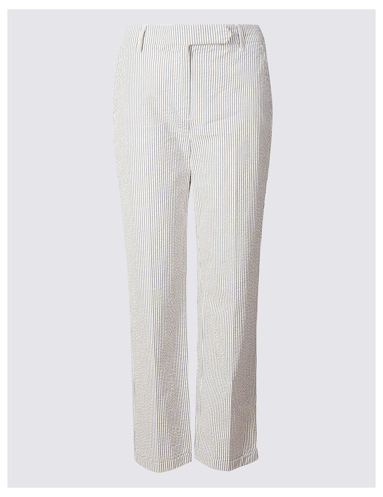 Per Una Pure Cotton Straight Leg Trousers