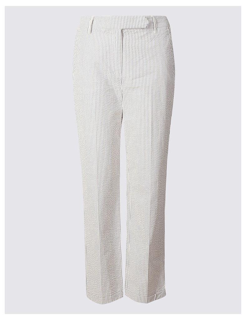 Per Una Pure Cotton Straight Leg Trousers
