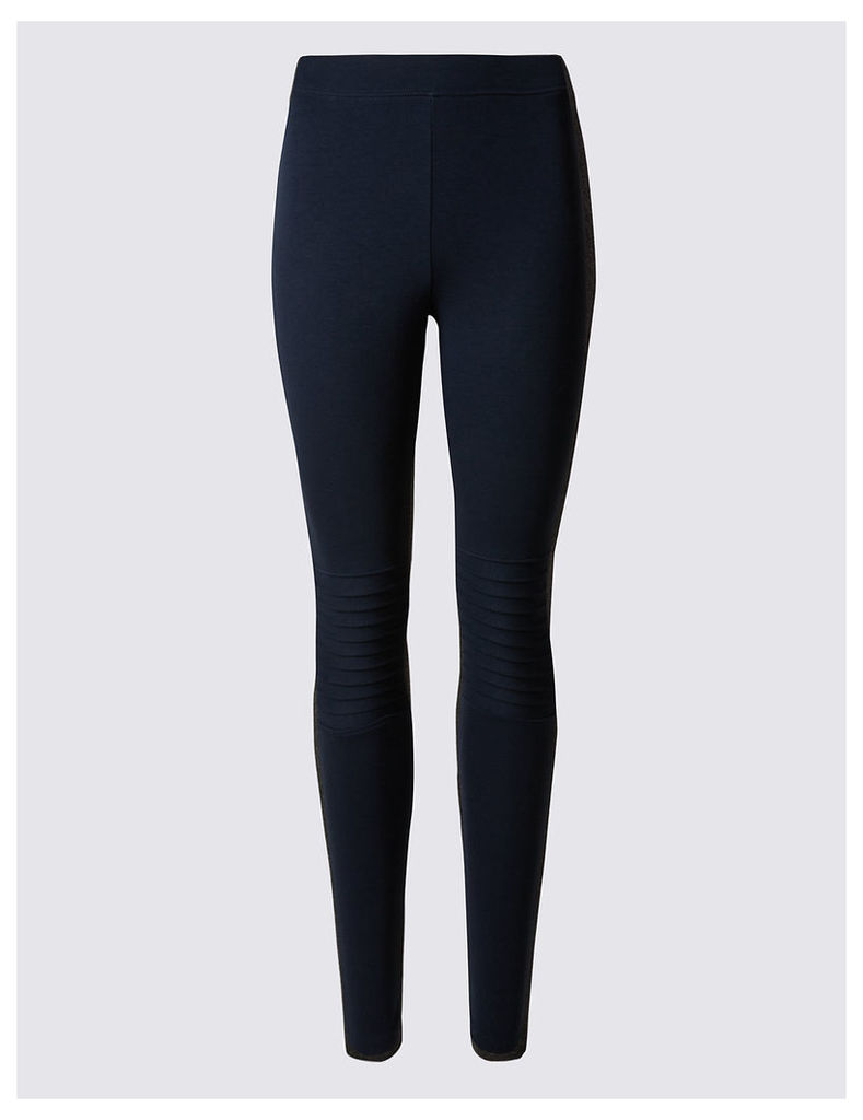 M&S Collection Biker Jersey Leggings