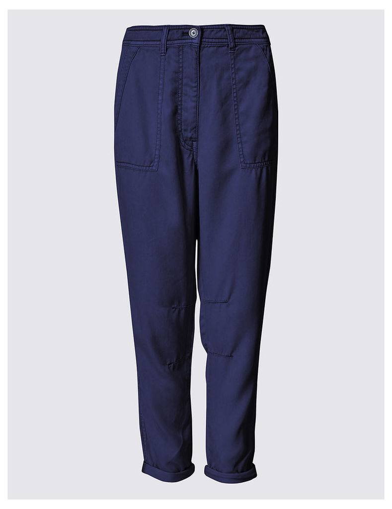 M&S Collection Patch Pocket Tapered Leg Trousers