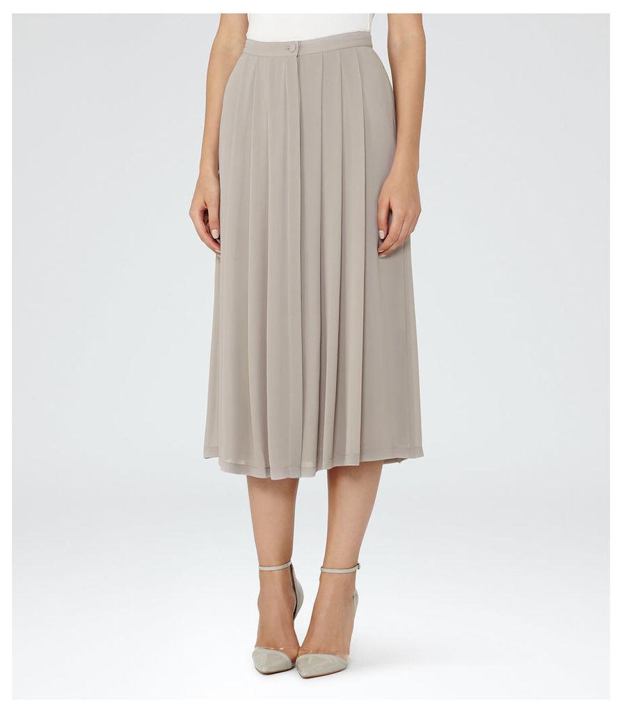 REISS Muir - Womens Midi Skirt in Grey