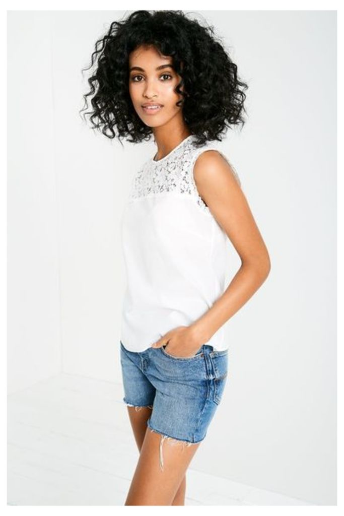 BRACKNELL LACE TOP WHITE