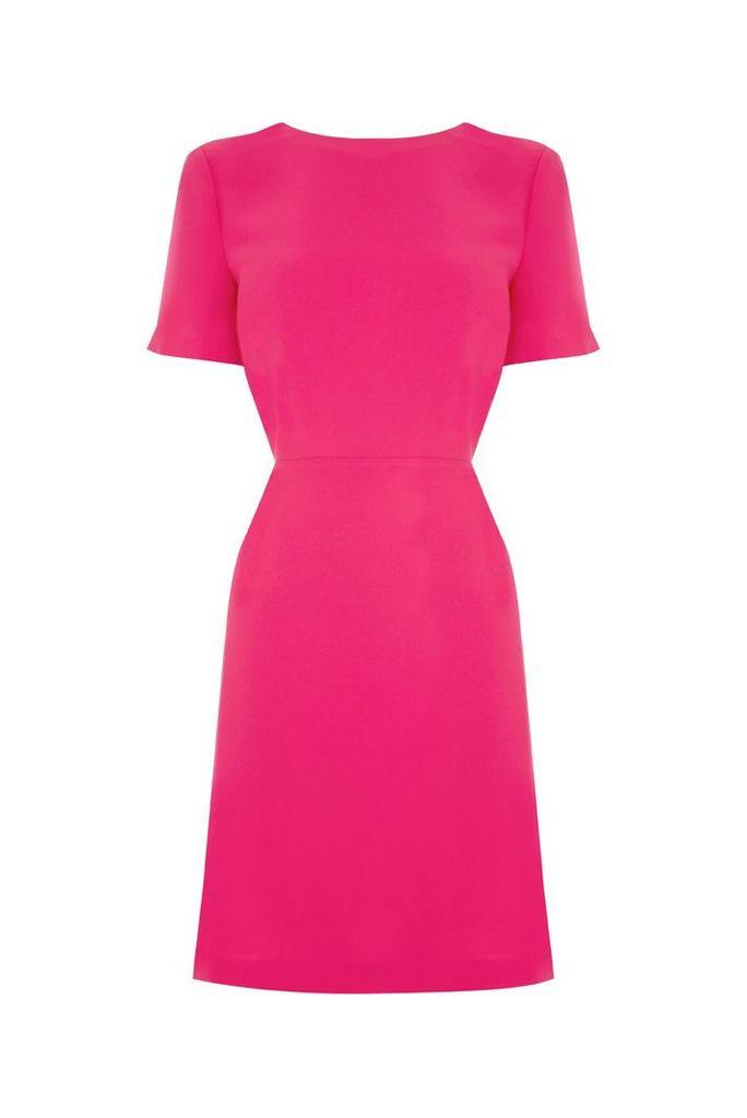 Warehouse Cross Back Dress, Pink