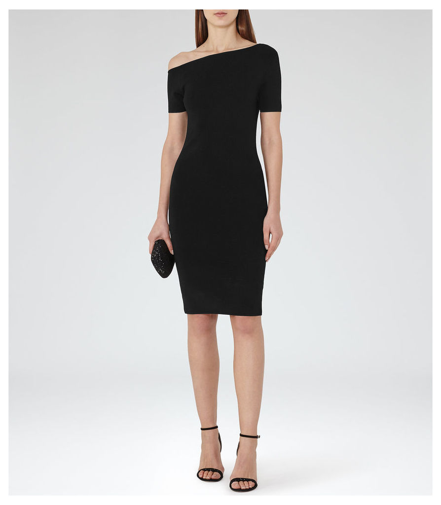 REISS Palmer - Womens Off The Shoulder Dress in Black