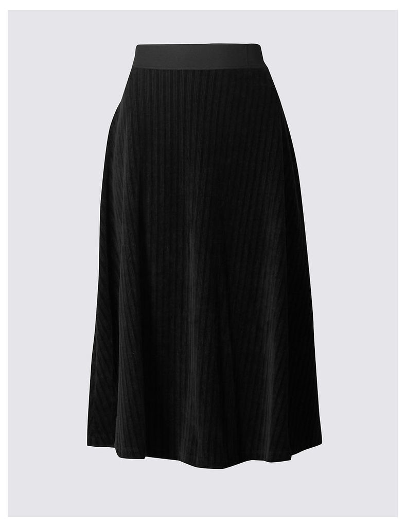 M&S Collection Cord Flippy Midi Skirt