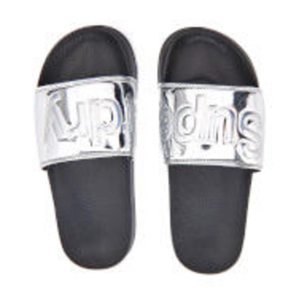Superdry Women's Pool Slide Sandals - Chrome - M/UK 5-6